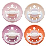 NIP pacifier Cherry cherry-shaped: BPA-free, size 1, 0-6 months, latex, pink/pink/red/orange earthy, 4 pieces