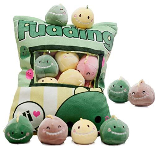 SANXDI Bonita almohada de dinosaurio de peluche, extraíble, diseño de dinosaurio, con juguetes de animales suaves, para sofá, cama, decoración creativa, regalo para niños y niñas, cumpleaños