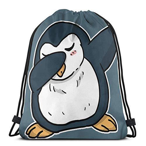 Bolsas de cordón divertidas Bing Penguin Unisex Cordón Bapa Bolsa de deporte Bolsa de cuerda Bolsa grande con cordón Bolsa de Gimnasio Bapa a granel