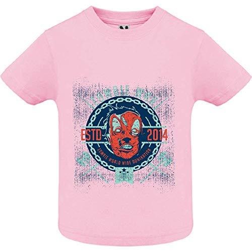 LookMyKase T-Shirt - Zombie War - Bébé Fille - Rose - 6mois
