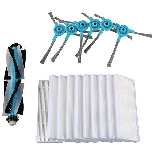 WPLHH Filtro de repuesto para aspiradora robótica Cecotec Conga 1390 Cecotec Conga 1290, cepillo lateral, filtro de esponja Hepa