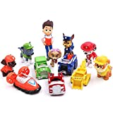 12Pcs Paw patrol cake topper Action Figure Toys Premium Dinosaur Cake Toppers dogs cake decorations and Party Favors for Paw patrol party supplier birthday