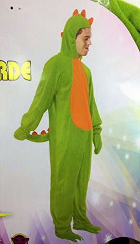 Disfraz de Dragn, verde. Adulto. Talla nica.