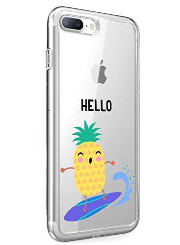 Suhctup Funda Compatible con iPhone X/XS Transparent,Carcasa Protección Silicona Gel TPU Bumper Moda Dibujos Protector Piel Ultra Pulgadas Anti Choques Estuche Case para iPhone X/XS(13)
