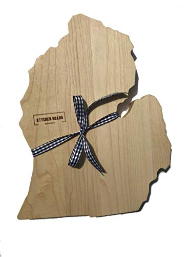 MICHIGAN Mitten Cutting Board & MICHIGAN Gifts | Michigan Home Decor & Souvenir Serving as a Decorative Cheese Tray or Chopping Block for Kitchen