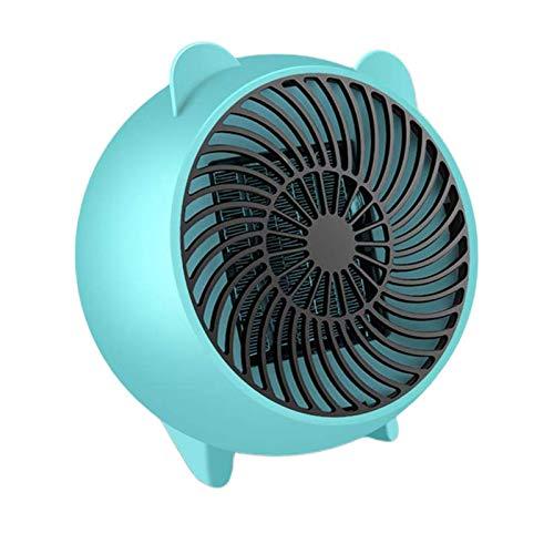 DXDUI Aire Caliente Portátil Personal Mini Espacio Calentadores Eléctricos con PTC De Cerámica Elemento De Calefacción Protección del Sobrecalentamiento Fast Heat En 3S,Azul