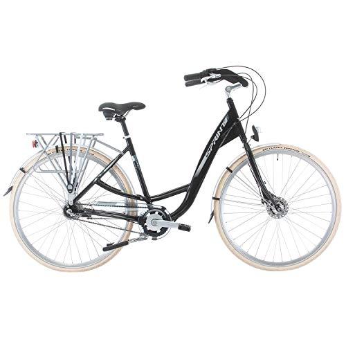 SPRINT SINTERO Plus Biciclette da Città la Donne Dimensioni della Ruota 28'' Dimensione della Bici 430 mm (Nero Opaco)