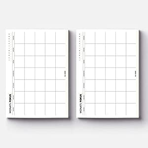 ✅ EINFACH LOSLEGEN - Eine Grundstruktur für Monatsplanung - undatiert für mehr Flexibilität ✅ MINIMALISTISCHES DESIGN - ein Planer, der auf jeden Schreibtisch eine gute Figur macht ✅ STARKES PAPIER - 50 Blatt 90 g/m² Papier auf Rückenkarton ✅ DER UMW...