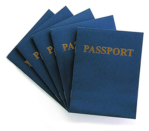 Hygloss Products Blank Passport Book - Fun Pretend Activity for Kids - Great for Classrooms & Parties - Imaginary Travel - Little Travelers Pocket Journal - 24 Blank Pages - 4 ¼? X 5 ½? - 1 Book