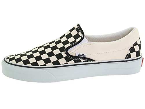 Vans Damen WM Asher Slip On Sneaker, Weiß (Checkerboard/Black/White), 38 EU