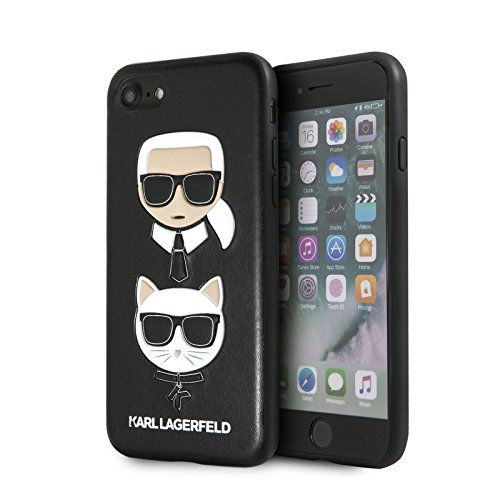 Karl Lagerfeld Embossed Case Karl und Choupette - Case for iPhone 8/7 (Black)