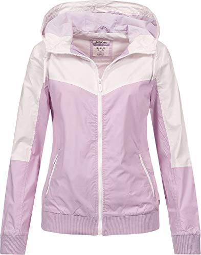 Sublevel Damen Jacke Windbreaker LSL-317/LSL-366 Kapuze, Colour-Block Light Purple M
