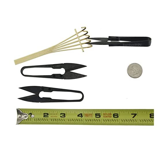 Bamboomn bonsai tree pruning trimming starter tool kit - leaf trimmers (set of 3) and bamboo rake 4 bamboomn brand bonsai leaf trimmers (set of 3) super handy, you'll want to keep these in several places so that they're always at hand for a quick snip. Precision ground and very sharp. To preserve the fine edges, do not use these tools to cut wire.