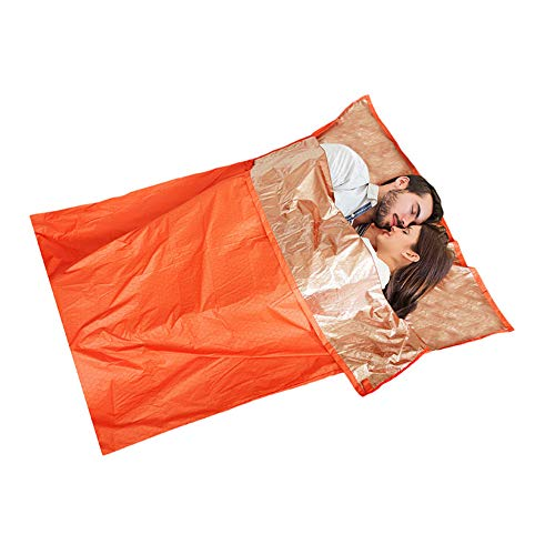 Emergency Survival Slaapzak, 2 persoon Emergency Slaapzak, Thermal Mylar folie Ruimte Deken voor wandelen Camping Marathons Bug Out Bag, Outdoor Survival Gear