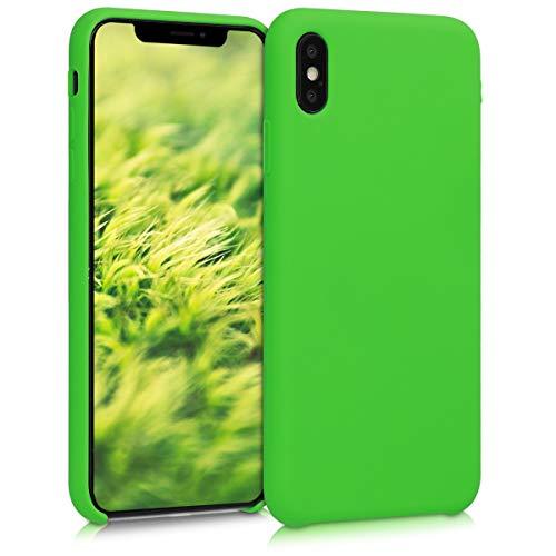 kwmobile Hülle kompatibel mit Apple iPhone XS Max - Handyhülle gummiert - Handy Case in Limettengrün
