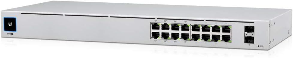 Ubiquiti Networks UniFi USW-16-POE Gen2 Configurable 16-Port Gigabit PoE Ethernet Switch with SFP