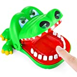 Liberty Imports Crocodile Finger Biting Dentist Game Chomping Alligator Teeth Fun Family Tabletop Party Kids Toy