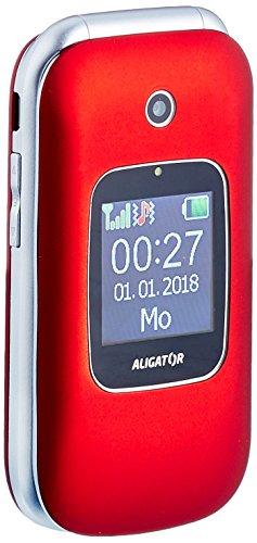 Aligator V650 Seniorenhandy mit SOS Taste & Locator Rot
