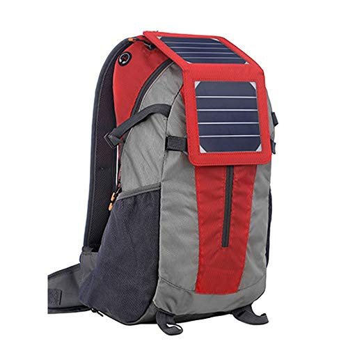 Hancoc Mochila De Carga Solar Bolsa De Ordenador Portátil Antirrobo Bolsa De Viaje Mochila Impermeable (Color : Red)