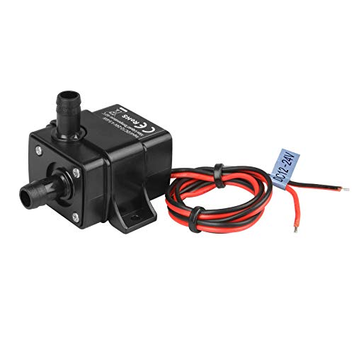 DC 12-24V Mini Submersible Water Pump Max. 220L/H 10ft Lift for Aquarium Garden Pond Fall Hydroponic Fountains, Clear Water Only