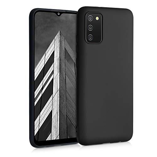 kwmobile Hülle kompatibel mit Samsung Galaxy A02s - Handyhülle - Handy Case in Schwarz matt