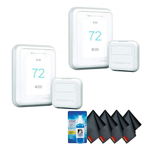 Honeywell THX321WFS2001W T10 Pro Smart Thermostat with RedLINK (2-Pack) Accessory Kit with Screen Cleaning Kit