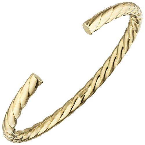 JOBO Armspange / offener Armreif 925 Silber gold vergoldet Armband oval