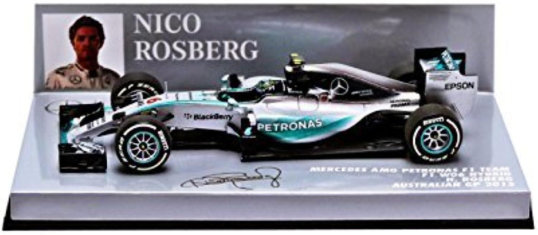 precios ultra bajos Minichamps 1 1 1 43 Escala 2015 Mercedes AMG Petronas 'F1 W06 híbrido Nico Rosberg GP de Australia Coche (plata)  mas barato