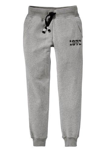 adidas Originals Pantalones de chándal para mujer con logotipo Essentials con puños en gris jaspeado – 16