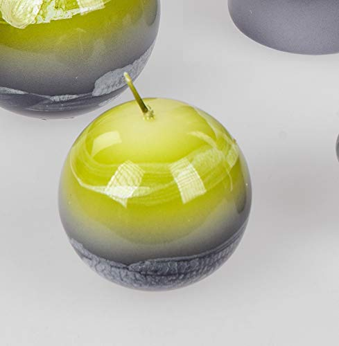 Formano Decorativo Vela Vela de Bola Verde-Gris Marmor-Dekor