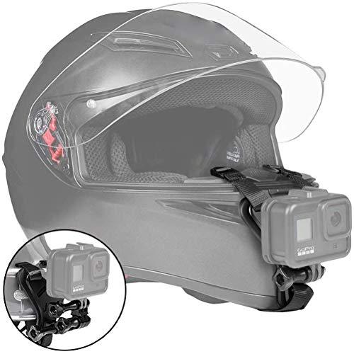 Kohyum Casco mentonera Moto Bicicleta Casco de Moto Correa de Montaje en Barbilla Compatible con la cámara de acción GoPro para VLOG/POV u Otros Accesorios de Disparo de cámara de acción