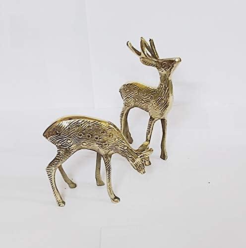 Brass deer statue _image1