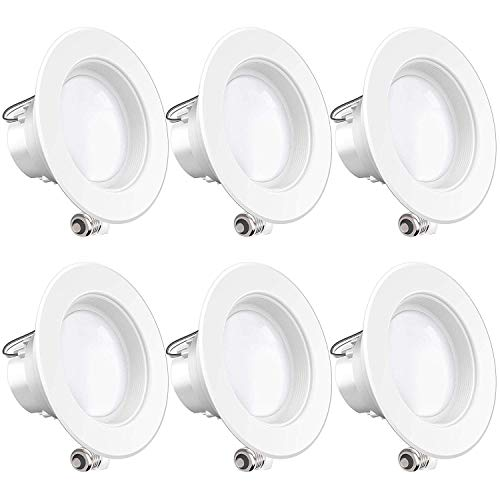 Sunco Lighting 6 Pack 4 Inch LED Recessed Downlight, Baffle Trim, Dimmable, 11W=60W, 3000K Warm...
