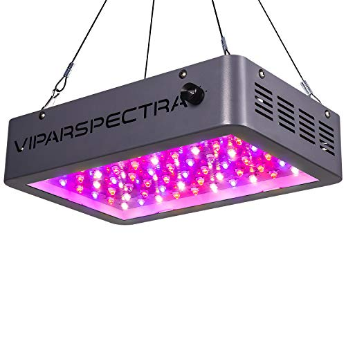 LED Grow Light, VIPARSPECTRA Newest Dimmable 600W LED Grow Light, with Daisy Chain, Dual Chips Full Spectrum LED Grow Lamp for Hydroponic Indoor Plants Veg and Flower(10W LEDs 60Pcs)