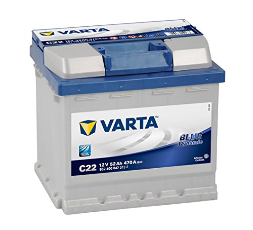 Varta Blue Dynamic C22 Car Battery, 5524000473132 12V 52 mAh 470 A