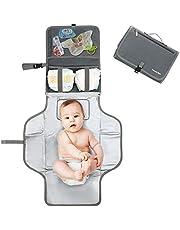 Pomelo best Cambiador portatil de pañales para bebe Impermeable   Kit Cambiador Bebe Viaje   Esterilla Lavable de Quita y Pon   Perfecto para Usar Fuera de Casa (Gris)
