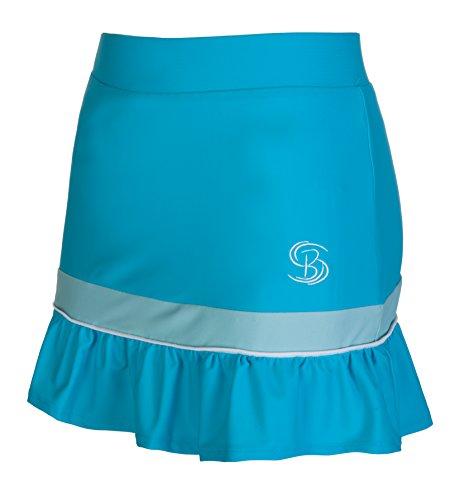 Gonna da tennis blu per ragazze e donne, abbigliamento sportivo da hockey (adulto piccolo)