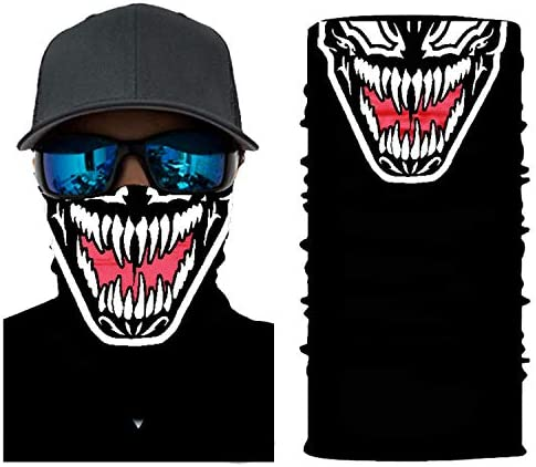 ADKO Bandana Clearance Venom Mask Funny Face Masks for Adults Neck Gaiters for Men Funny Masks product image