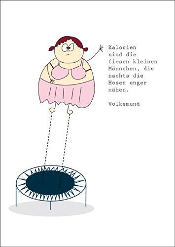 Groetkaart voor de strijd tegen de kilo's: calorieën zijn de fiesen. • ook voor direct verzenden met uw persoonlijke tekst als inlegger. • Hoogwaardige 1a wenskaart met envelop voor lieve groeten