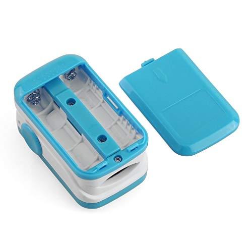 Portable Finger Tip Pulsoximeter OLED-scherm Modes hartslagmeter zuurstofgehalte in het bloed Monitor met draagkoord Hot Koop (Size : Blue)
