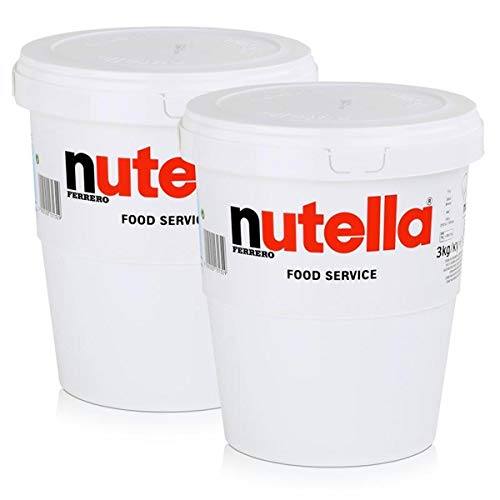 bester Test von 5 kg nutella Zwei große Tassen à 3 kg Nutella Ferrero XXL zum Auftragen mit Ferrero Nougat Cream