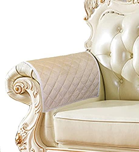 ADIS - Copribraccioli antiscivolo per divano, in pelle, per divano, trapuntati, per cani, bambini, animali domestici, venduti da 2 pezzi, 48 x 58 cm