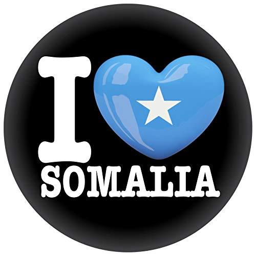 FanShirts4u Button/Badge/Pin - I Love SOMALIA Fahne Flagge (I LOVE SOMALIA)