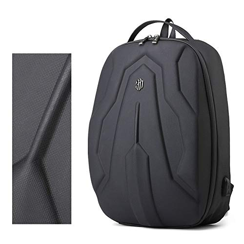 Men 17 Inch Fashion Hard Shell Laptop Backpack Multi-function Travel Outdoor Bag School Teenage Hardshell Back Pack Anti-theft (168 elastic PU surfa)
