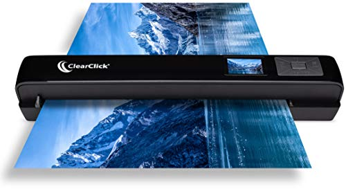 "ClearClick Portable Photo & Document Scanner - No Computer Required - Runs on AA Batteries or USB Power - 1.4"" Instant Preview Screen"