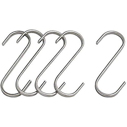 ETbotu - Gancho para Colgar Ropa, Acero Inoxidable, Metal Resistente, para Cocina, ollas y sartenes, Almacenamiento y Organizador, Toalla de baño, Ropa, Abrigo, Gancho