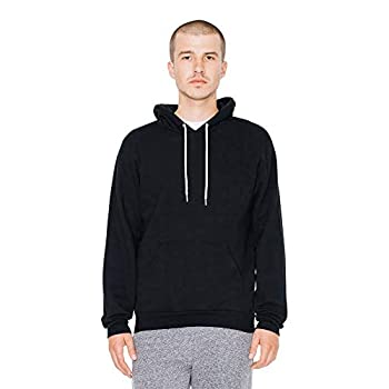 American Apparel Men s Flex Fleece Long Sleeve Pullover Hoodie Black Large
