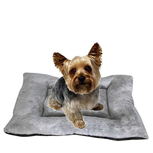 Cama Perro, Cama de Perros Grandes, Cama para Perros, Cama para Mascotas Desmontable y Extraíble Lavable 70 x 50 x 11 cm(M, Gris)