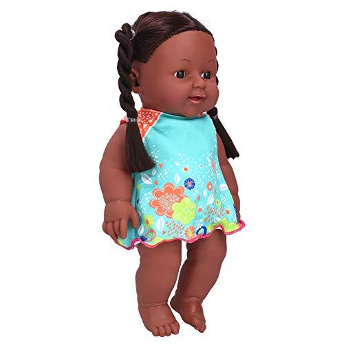 Babypuppen, 30 cm Schlafbegleitung Puppe Lebensechte Babypuppe Set mit Puppenkleidung für Kinder ab 3 Jahren(Q12‑09 Blau + Orange Rock)