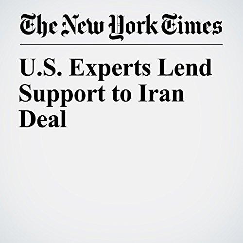 U.S. Experts Lend Support to Iran Deal copertina